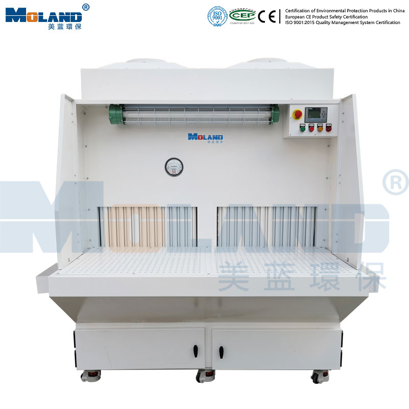 Grinding dust removal table