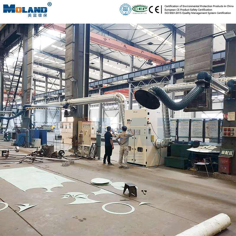 Centralized dust removal in workshop
