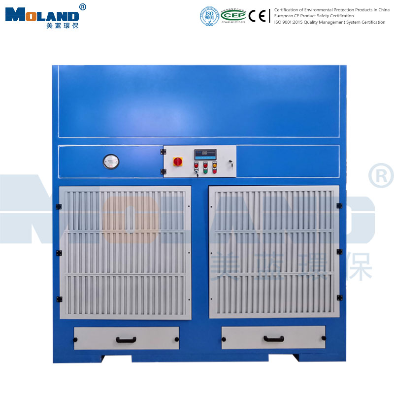 Grinding dust removal cabinet
