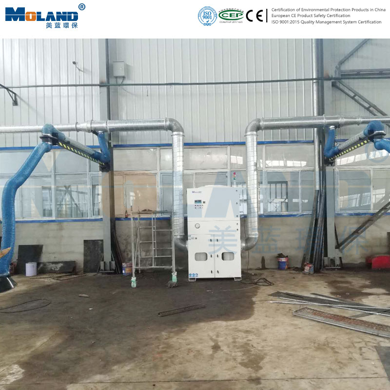 Case of centralized dust removal in welding workshop