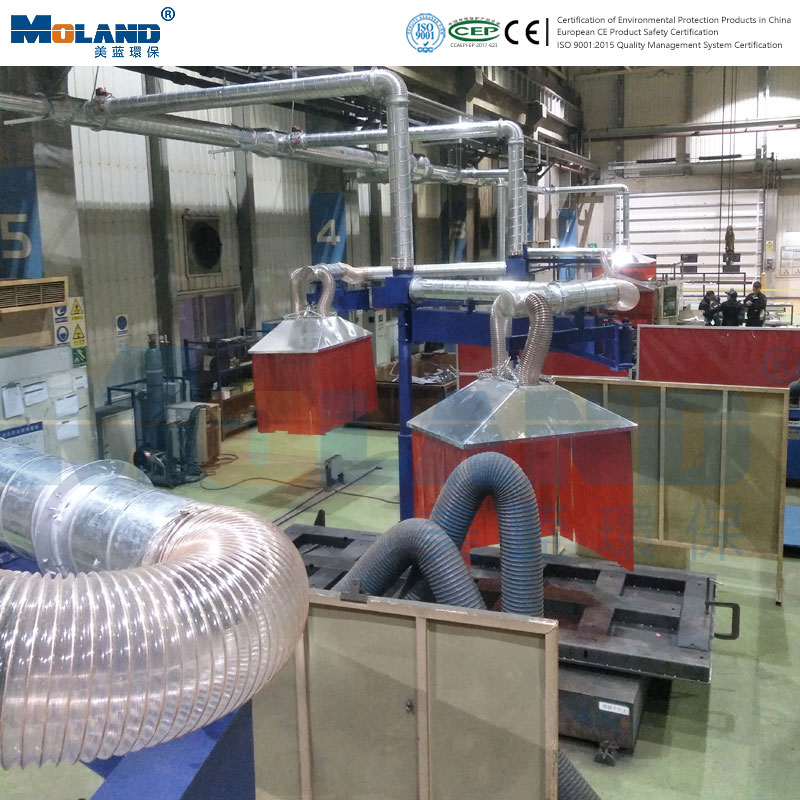 Field case of centralized dust removal for welding and grindi