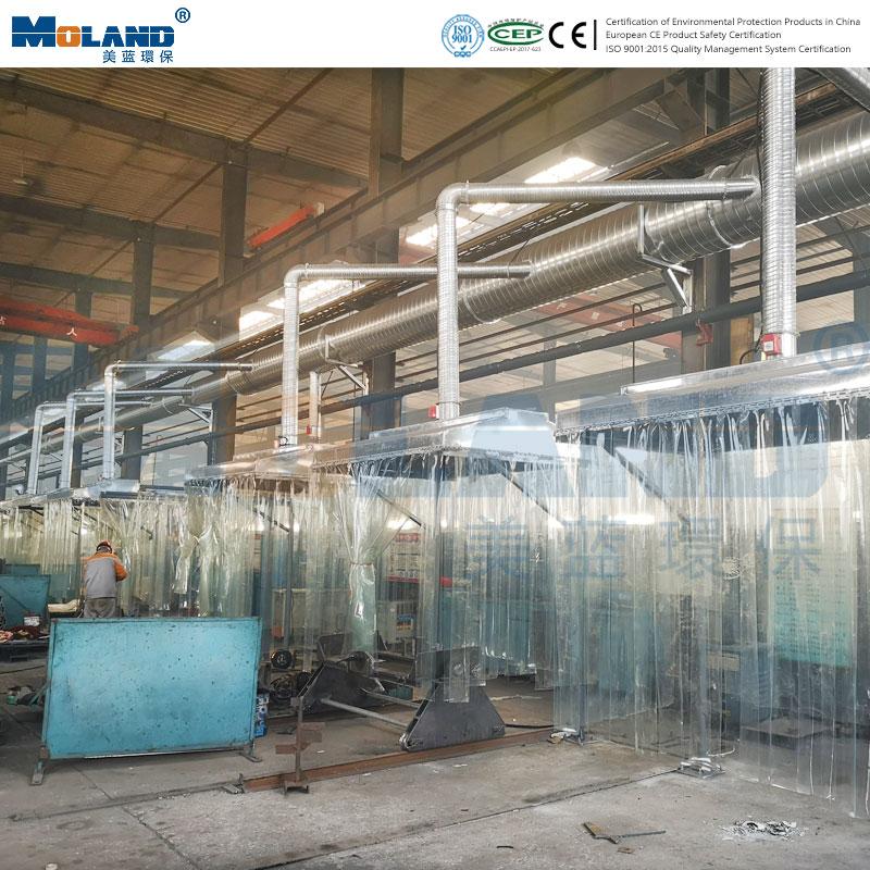Field case of centralized dust removal in welding workshop