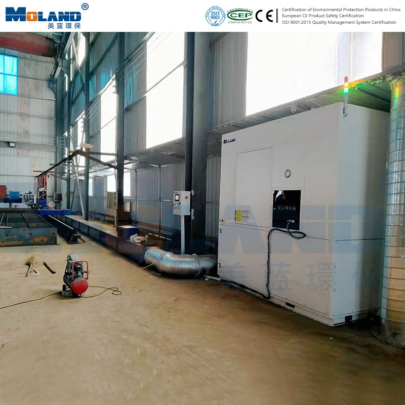 Field case of dust remover of plasma cutting machine