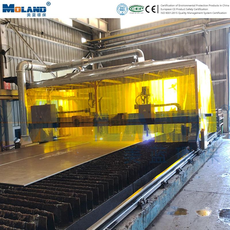 Plasma cutting machine cutting smoke purification