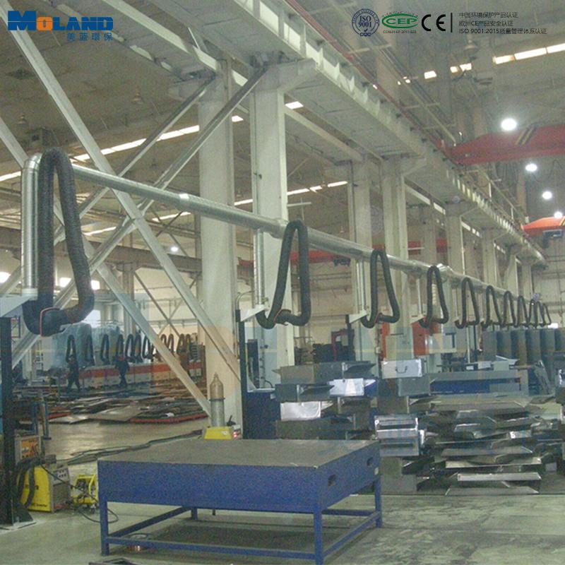 多工位焊接集中除尘案例